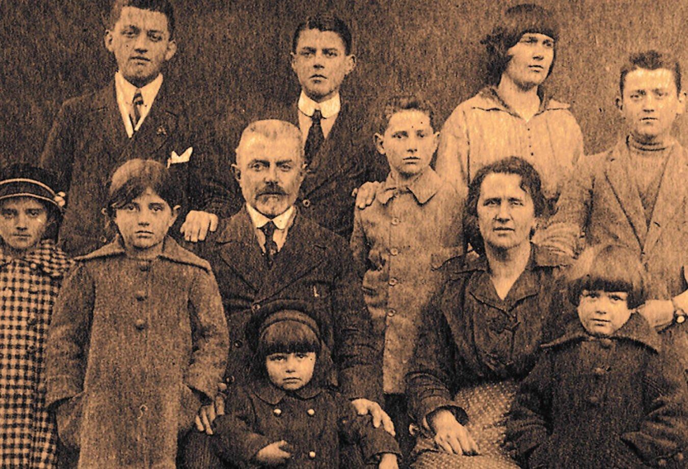 Famiglia Bonollo all'inizio del 1900
