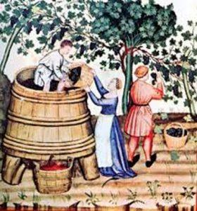 Vendemmia nel Medioevo