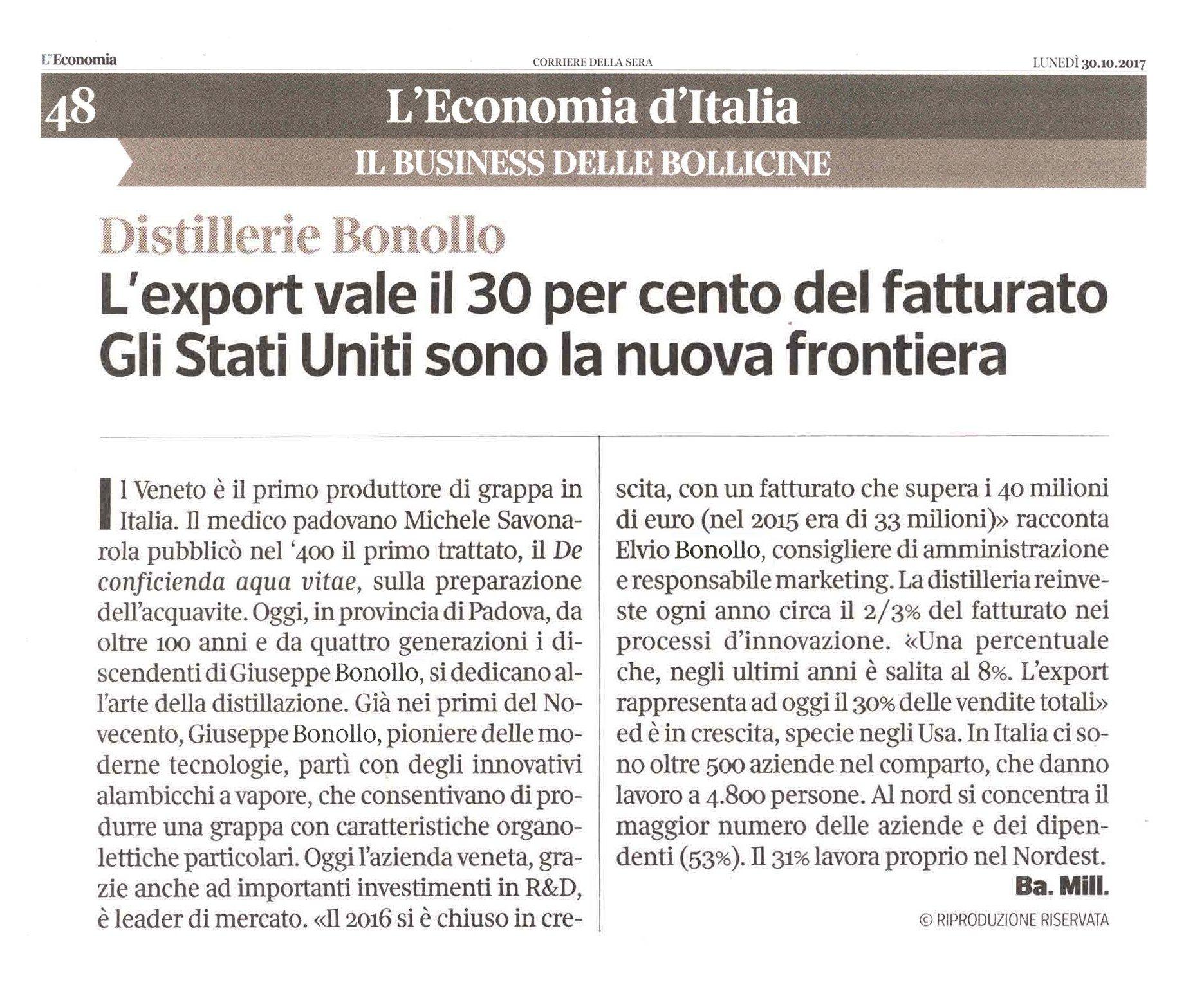 CorriereDellaSera_Economia- grappa bonollo